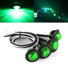 4X 3/4 Inch Green Side Marker Clearance Light 3 LED 12V For Trailer Truck Boat