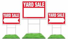 Yard Sale Sign Kit - 3 signs with Steel H Stakes