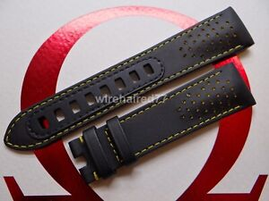 Omega Speedmaster Dark Side Of The Moon Apollo 8  21mm Black Leather Strap