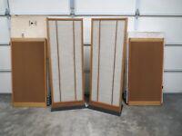 Set Of 4 Vintage Magnepan Magneplanar MG1 / SMG Speakers In Original Factory Box