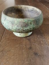 More details for antique wooden tibetan offering bowl imperfect and unique rustic