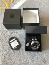 A Bathing Ape Type 3 Bapex Automatic In Silver With Black Face BRAND NEW