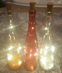 Light Wine Bottles x 3