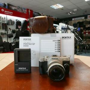 Used Pentax Q7 Silver with 02 5-15mm Lens - 13659 actuations- 1 YEAR GTEE