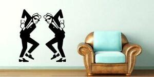 Ska man twins dancing music Lounge Bedroom Skinhead Vinyl wall Decal Sticker