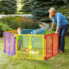 Safe Secure 6-Panel Play Yard, Portable, Multi-Colored, Convenient Easy Setup