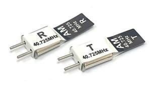 RC + Receiver Crystal Pair 40 MHZ 40.725 AM TX & RX Receiver 40MHZ CH 50 Black