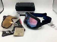 Native Eyewear Coldfront™ Indigo Snow Goggles, Rose w/ Blue Mirror + Bonus Lens