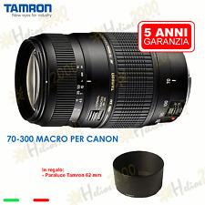 Tamron EF 70-300 mm Obiettivo per Canon EOS 1200D 700D 1100D 650D 1000D 600D 5D