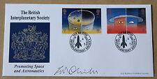 L'EUROPA nello spazio 1991 Bradbury FDC società interplanetaria H/S firmato W G Childs