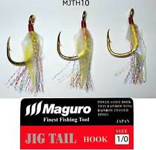 Maguro Japan Power Assist Hooks Dress Twin Rainbow Wing ,Twisted Tinsel. sz:1/0