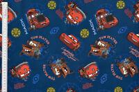 Disney Pixar Cars, Friends Fabric - 100% Cotton, McQueen, Mack, Red & Tow Mater