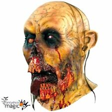 Adult Zombie Orc Tongue Halloween Fancy Dress Full Latex Evil Head And Neck Mask