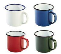 Serie ENAMELWARE Tasse Henkelbecher 4 Farben aus emailliertem Metall Gastlando