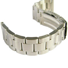 20mm Hadley-Roma MB4426 Oyster Stainless Steel Straight End Watch Band Bracelet