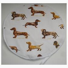 NEW Aga Range Hob Hat Lid Mat Cover Topper Cook Chef Pad Dachshund Sausage Dog