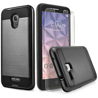 For Alcatel Verso Phone Case, Shockproof Cover+Glass Screen Protector