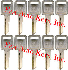 "10 NEW GM Logo OEM IGNITION ""A"" Key Blank Uncut 320588 B48P B48 01154610 50-A"