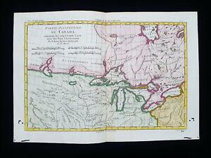 1770 BONNE: NORTH AMERICA, CANADA, UNITED STATES, GREAT LAKES, USA, ONTARIO...
