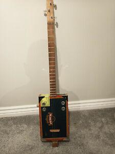 Cigar Box Guitar Punch Box 3 String Electro Acoustic Volume