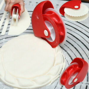 Plastic Pizza Pastry Lattice Cutter Pastry Pie Cutter Wheel Roller Kitchen Tool