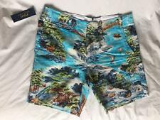 POLO Ralph Lauren Mens Linen/Cotton 34 Hawaiian Shorts 🌍 FREE SHIPPING 🌎
