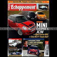 ECHAPPEMENT N°495 ABARTH 500 MINI COOPER S JCW CORSA OPC CLIO RS F1 LAGUNA COUPE