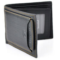 New Men Wallet Pockets Money Purse ID Credit Card Clutch Bifold Black PU Leather