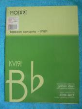 MOZART BASSOON CONCERTO KV191 SHEEN ALLEY MAYHEW 979050240869 NEW