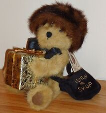"Boyds Bears IVANNA SPENDALOT 12"" plush w/Tag ""Born To Shop"" faux fur hat & gift"