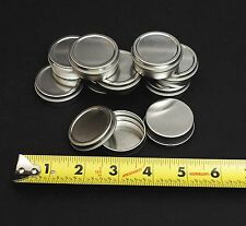 1/2 Oz Round Metal Tin Container for lip balm,crafts,storage,survival (20 Pack)