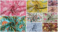 Cotton Fabric For Upholstery Indian Hand Block Print Sanganeri Fabric By Yard