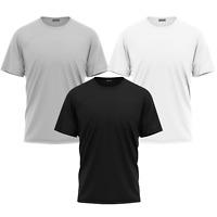 Mens Plain Summer Casual Crew Neck Half Sleeve Gym Training Athletic T-Shirt Top