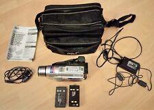 JVC GR-SXM 607 E Compact VHS Camcorder Super VHS ET PAL mit viel Zubehör