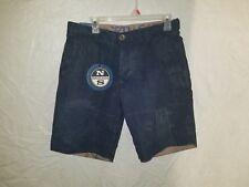 NWT North Sails Size 32 Acid Blue Distressed 4 Pocket Cotton Shorts Brand New