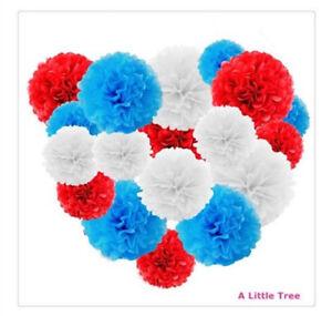 9/12/18 PCs Tissue Paper  Pom Poms Pompom Fluffy Flower Ball Party Decoration