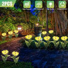 2x Solar Led Power Sunflower Outdoor Path Light Lamp Yard Garden Landscape Decor