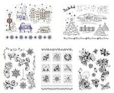 Stempel Weihnachten Christmas, Clear Stamps aus Silikon, Viva Decor