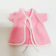 """Vintage Pink Fuzzy 8"""" Baby Doll Robe Clothes Tagged Corolle"""