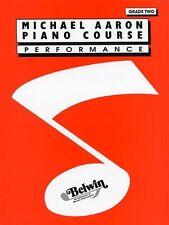 Michael Aaron Piano Curso de rendimiento de grado 2 Aprende A Tocar Teclado Musical Libro