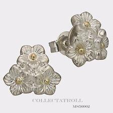 Authentic Troll beads Elderflowers Bunch Earsticks Trollbeads MS56002