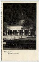 Bad Elster Sachsen alte Ansichtskarte 1937 gelaufen Partie an der Marienquelle