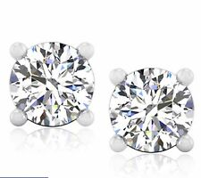 4.00 ct Bridal Diamond Earrings Stud Fine 14Kt Yellow Gold Brilliant Round Cut