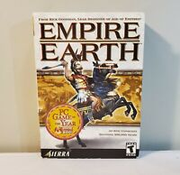 Empire Earth PC Game Vintage 2001 Complete Manual Reference Guides Big Box -RARE