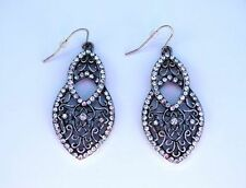 Unbranded Pear Alloy Crystal Costume Earrings