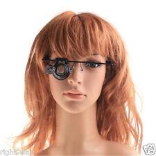 20x Eyewear Single Eye Magnifier Loupe with Headband Magnify Lamp with LED Light