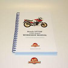 Honda VF750F V4 1980s Factory Workshop Shop Manual Book. Reproduction. HWM046