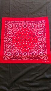 Red Bandana Elephant fast color trunk down cotton