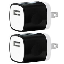 2x Pack 1A Universal USB Travel Wall Charger Power Adapter for iPhones Android