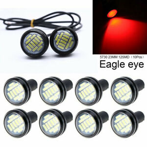 10 x Red 23mm Car Eagle Eye LED Daytime Running Light Black Shell Waterproof
